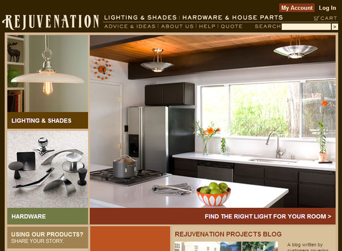 ... 3 4 | Visit site .rejuvenation.com & Protean Development - Web Design and Web Development Studio - Portfolio